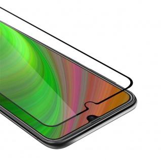Cadorabo Vollbild Panzer Folie für Samsung Galaxy M21 Schutzfolie in TRANSPARENT mit SCHWARZ Gehärtetes (Tempered) Display-Schutzglas in 9H Härte mit 3D Touch