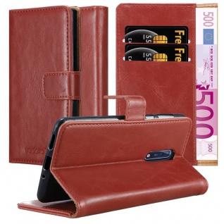 Cadorabo Hülle für Nokia 8 2017 in WEIN ROT Handyhülle mit Magnetverschluss, Standfunktion und Kartenfach Case Cover Schutzhülle Etui Tasche Book Klapp Style