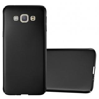 Cadorabo Hülle für Samsung Galaxy A8 2015 in METALL SCHWARZ Hardcase Handyhülle aus Plastik gegen Kratzer und Stöße Schutzhülle Bumper Ultra Slim Back Case Hard Cover