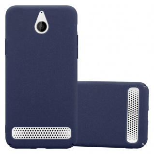Cadorabo Hülle für Sony Xperia E1 in FROSTY BLAU - Hardcase Handyhülle aus Plastik gegen Kratzer und Stöße - Schutzhülle Bumper Ultra Slim Back Case Hard Cover