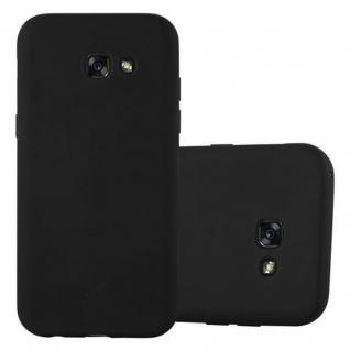 Cadorabo Hülle für Samsung Galaxy A3 2017 in CANDY SCHWARZ - Handyhülle aus flexiblem TPU Silikon - Silikonhülle Schutzhülle Ultra Slim Soft Back Cover Case Bumper
