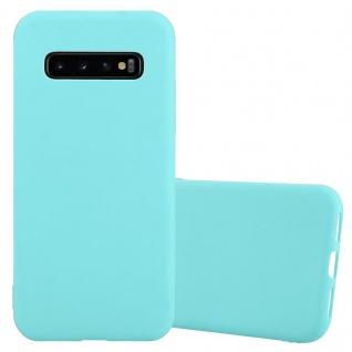 Cadorabo Hülle für Samsung Galaxy S10 PLUS in CANDY BLAU Handyhülle aus flexiblem TPU Silikon Silikonhülle Schutzhülle Ultra Slim Soft Back Cover Case Bumper