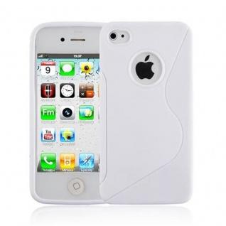 Cadorabo Hülle für Apple iPhone 4 / iPhone 4S - Hülle in HALB TRANSPARENT ? Handyhülle aus flexiblem TPU Silikon im S-Line Design - Ultra Slim Soft Backcover Case Bumper