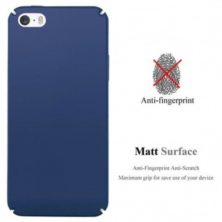 Cadorabo Hülle für Apple iPhone 5 / iPhone 5S / iPhone SE in METALL BLAU ? Hardcase Handyhülle aus Plastik gegen Kratzer und Stöße ? Schutzhülle Bumper Ultra Slim Back Case Hard Cover - Vorschau 2