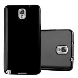 Cadorabo Hülle für Samsung Galaxy NOTE 3 in JELLY SCHWARZ ? Handyhülle aus flexiblem TPU Silikon ? Silikonhülle Schutzhülle Ultra Slim Soft Back Cover Case Bumper