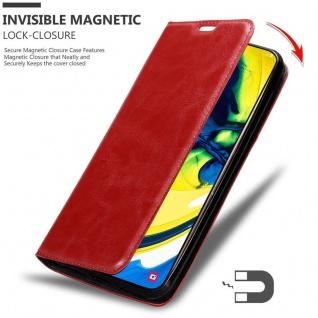 Cadorabo Hülle für Samsung Galaxy A80 / A90 in APFEL ROT - Handyhülle mit Magnetverschluss, Standfunktion und Kartenfach - Case Cover Schutzhülle Etui Tasche Book Klapp Style - Vorschau 3