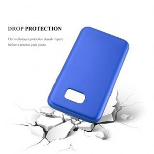 Cadorabo Hülle für Samsung Galaxy S7 EDGE in METALLIC BLAU - Handyhülle aus flexiblem TPU Silikon - Silikonhülle Schutzhülle Ultra Slim Soft Back Cover Case Bumper - Vorschau 3