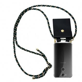 Cadorabo Handy Kette für Sony Xperia XA2 in CAMOUFLAGE - Silikon Necklace Umhänge Hülle mit Gold Ringen, Kordel Band Schnur und abnehmbarem Etui ? Schutzhülle