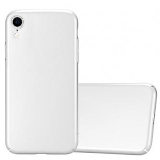 Cadorabo Hülle für Apple iPhone XR in METALL SILBER Hardcase Handyhülle aus Plastik gegen Kratzer und Stöße Schutzhülle Bumper Ultra Slim Back Case Hard Cover