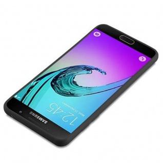 Cadorabo Hülle für Samsung Galaxy A5 2016 in CANDY SCHWARZ - Handyhülle aus flexiblem TPU Silikon - Silikonhülle Schutzhülle Ultra Slim Soft Back Cover Case Bumper - Vorschau 3
