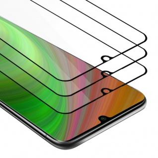 Cadorabo 3x Vollbild Panzer Folie für Xiaomi RedMi Note 10 - Schutzfolie in TRANSPARENT mit SCHWARZ - 3er Pack Gehärtetes (Tempered) Display-Schutzglas in 9H Härte mit 3D Touch