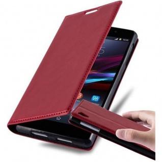 Cadorabo Hülle für Sony Xperia Z1 in APFEL ROT Handyhülle mit Magnetverschluss, Standfunktion und Kartenfach Case Cover Schutzhülle Etui Tasche Book Klapp Style