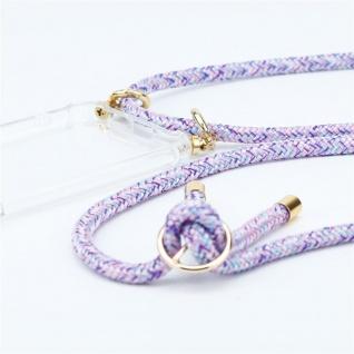Cadorabo Handy Kette für Huawei NOVA 2 in UNICORN Silikon Necklace Umhänge Hülle mit Gold Ringen, Kordel Band Schnur und abnehmbarem Etui Schutzhülle - Vorschau 3