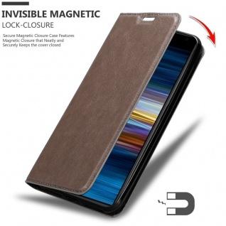 Cadorabo Hülle für Sony Xperia 10 PLUS in KAFFEE BRAUN - Handyhülle mit Magnetverschluss, Standfunktion und Kartenfach - Case Cover Schutzhülle Etui Tasche Book Klapp Style - Vorschau 3
