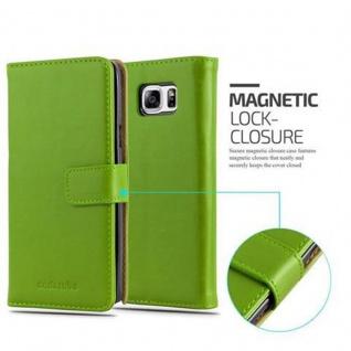 Cadorabo Hülle für Samsung Galaxy NOTE 5 in GRAS GRÜN ? Handyhülle mit Magnetverschluss, Standfunktion und Kartenfach ? Case Cover Schutzhülle Etui Tasche Book Klapp Style - Vorschau 2