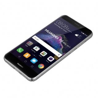 Cadorabo Hülle für Huawei P8 LITE 2017 in METALL SILBER ? Hardcase Handyhülle aus Plastik gegen Kratzer und Stöße ? Schutzhülle Bumper Ultra Slim Back Case Hard Cover - Vorschau 3