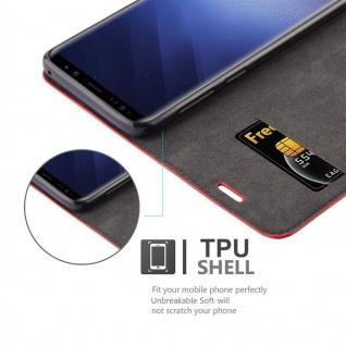Cadorabo Hülle für Samsung Galaxy S9 in APFEL ROT Handyhülle mit Magnetverschluss, Standfunktion und Kartenfach Case Cover Schutzhülle Etui Tasche Book Klapp Style - Vorschau 2