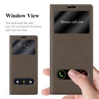 Cadorabo Hülle für Samsung Galaxy NOTE 8 in STEIN BRAUN - Handyhülle mit Magnetverschluss, Standfunktion und 2 Sichtfenstern - Case Cover Schutzhülle Etui Tasche Book Klapp Style - Vorschau 2