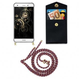 Cadorabo Handy Kette für Huawei P8 LITE 2015 in ROT GELB WEISS - Silikon Necklace Umhänge Hülle mit Gold Ringen, Kordel Band Schnur und abnehmbarem Etui ? Schutzhülle - Vorschau 5