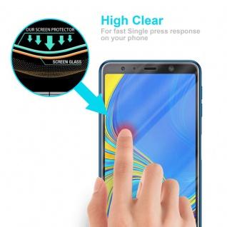 Cadorabo Panzer Folie für Samsung Galaxy A7 2018 - Schutzfolie in KRISTALL KLAR - Gehärtetes (Tempered) Display-Schutzglas in 9H Härte mit 3D Touch Kompatibilität - Vorschau 5