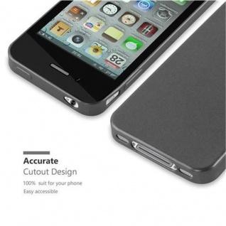Cadorabo Hülle für Apple iPhone 4 / iPhone 4S in METALLIC GRAU - Handyhülle aus flexiblem TPU Silikon - Silikonhülle Schutzhülle Ultra Slim Soft Back Cover Case Bumper - Vorschau 2