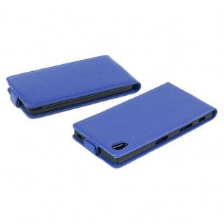 Cadorabo Hülle für Sony Xperia Z5 in KÖNIGS BLAU - Handyhülle im Flip Design aus strukturiertem Kunstleder - Case Cover Schutzhülle Etui Tasche Book Klapp Style - Vorschau 4