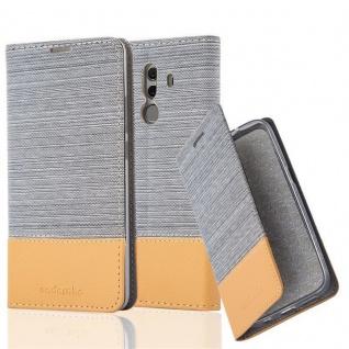 Cadorabo Hülle für Huawei MATE 10 PRO in HELL GRAU BRAUN - Handyhülle mit Magnetverschluss, Standfunktion und Kartenfach - Case Cover Schutzhülle Etui Tasche Book Klapp Style