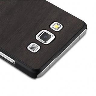 Cadorabo Hülle für Samsung Galaxy A5 2015 in WOODY SCHWARZ - Hardcase Handyhülle aus Plastik gegen Kratzer und Stöße - Schutzhülle Bumper Ultra Slim Back Case Hard Cover - Vorschau 4