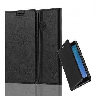 Cadorabo Hülle für Xiaomi Mi MAX 2 in NACHT SCHWARZ - Handyhülle mit Magnetverschluss, Standfunktion und Kartenfach - Case Cover Schutzhülle Etui Tasche Book Klapp Style
