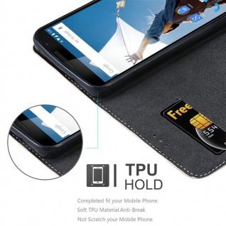 Cadorabo Hülle für Motorola NEXUS 6 in ROSÉ GOLD SCHWARZ ? Handyhülle mit Magnetverschluss, Standfunktion und Kartenfach ? Case Cover Schutzhülle Etui Tasche Book Klapp Style
