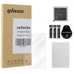 Cadorabo Panzer Folie für Blackberry KEY 2 - Schutzfolie in KRISTALL KLAR - Gehärtetes (Tempered) Display-Schutzglas in 9H Härte mit 3D Touch Kompatibilität