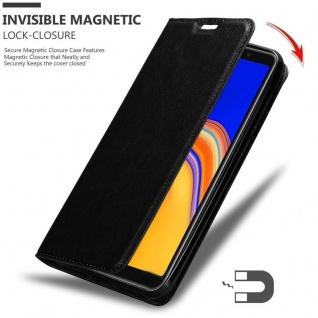 Cadorabo Hülle für Samsung Galaxy A6S in NACHT SCHWARZ - Handyhülle mit Magnetverschluss, Standfunktion und Kartenfach - Case Cover Schutzhülle Etui Tasche Book Klapp Style - Vorschau 3