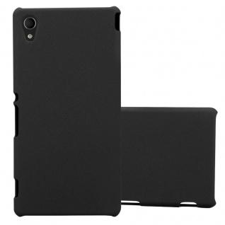 Cadorabo Hülle für Sony Xperia M4 AQUA in FROSTY SCHWARZ - Hardcase Handyhülle aus Plastik gegen Kratzer und Stöße - Schutzhülle Bumper Ultra Slim Back Case Hard Cover