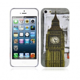 Cadorabo - Hard Cover für Apple iPhone 5 / iPhone 5S / iPhone SE - Case Cover Schutzhülle Bumper im Design: LONDON - BIG BEN