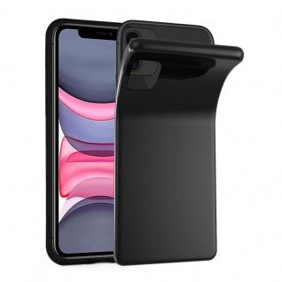 Cadorabo Hülle für Apple iPhone 11 (XI) in SCHWARZ - Handyhülle aus flexiblem TPU Silikon - Silikonhülle Schutzhülle Ultra Slim Soft Back Cover Case Bumper