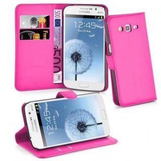 Cadorabo Hülle für Samsung Galaxy GRAND 2 in CHERRY PINK - Handyhülle mit Magnetverschluss, Standfunktion und Kartenfach - Case Cover Schutzhülle Etui Tasche Book Klapp Style
