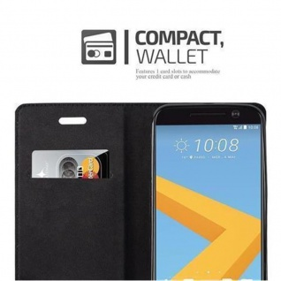 Cadorabo Hülle für HTC 10 (One M10) in PETROL TÜRKIS - Handyhülle mit Magnetverschluss, Standfunktion und Kartenfach - Case Cover Schutzhülle Etui Tasche Book Klapp Style - Vorschau 3