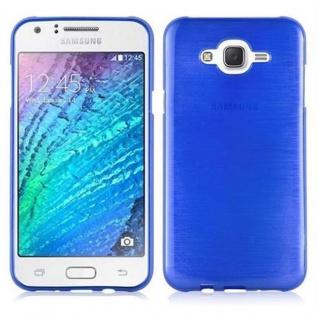 Cadorabo Hülle für Samsung Galaxy J7 2015 in BLAU - Handyhülle aus flexiblem TPU Silikon - Silikonhülle Schutzhülle Ultra Slim Soft Back Cover Case Bumper