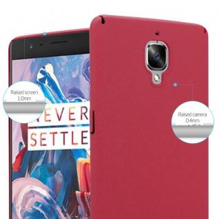 Cadorabo Hülle für OnePlus 3 / 3T in FROSTY ROT - Hardcase Handyhülle aus Plastik gegen Kratzer und Stöße - Schutzhülle Bumper Ultra Slim Back Case Hard Cover - Vorschau 4