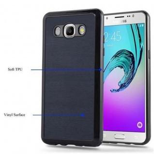 Cadorabo Hülle für Samsung Galaxy J5 2016 in WOODEN BLAU - Handyhülle aus flexiblem TPU Silikon - Silikonhülle Schutzhülle Ultra Slim Soft Back Cover Case Bumper - Vorschau 4