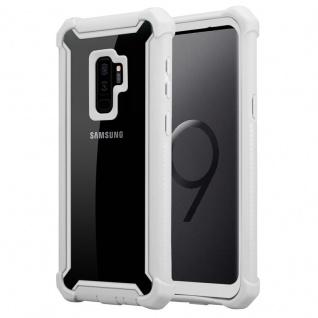 Cadorabo Hülle für Samsung Galaxy S9 PLUS in BIRKEN GRAU - 2-in-1 Handyhülle mit TPU Silikon-Rand und Acryl-Glas-Rücken - Schutzhülle Hybrid Hardcase Back Case