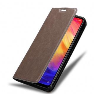 Cadorabo Hülle für Xiaomi RedMi NOTE 7 in KAFFEE BRAUN Handyhülle mit Magnetverschluss, Standfunktion und Kartenfach Case Cover Schutzhülle Etui Tasche Book Klapp Style