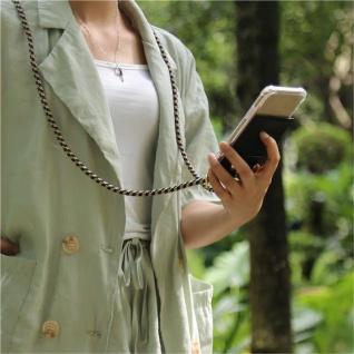 Cadorabo Handy Kette für Samsung Galaxy NOTE 10 PLUS in DUNKELBLAU GELB Silikon Necklace Umhänge Hülle mit Gold Ringen, Kordel Band Schnur und abnehmbarem Etui Schutzhülle - Vorschau 4