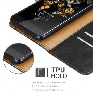 Cadorabo Hülle für LG K8 2016 in GRAPHIT SCHWARZ ? Handyhülle mit Magnetverschluss, Standfunktion und Kartenfach ? Case Cover Schutzhülle Etui Tasche Book Klapp Style - Vorschau 3