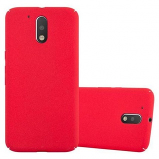Cadorabo Hülle für Motorola MOTO G4 / MOTO G4 PLUS in FROSTY ROT - Hardcase Handyhülle aus Plastik gegen Kratzer und Stöße - Schutzhülle Bumper Ultra Slim Back Case Hard Cover
