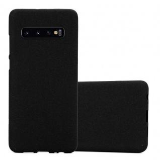 Cadorabo Hülle für Samsung Galaxy S10 in FROST SCHWARZ - Handyhülle aus flexiblem TPU Silikon - Silikonhülle Schutzhülle Ultra Slim Soft Back Cover Case Bumper