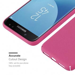 Cadorabo Hülle für Samsung Galaxy J5 2017 in FROSTY PINK - Hardcase Handyhülle aus Plastik gegen Kratzer und Stöße - Schutzhülle Bumper Ultra Slim Back Case Hard Cover - Vorschau 3
