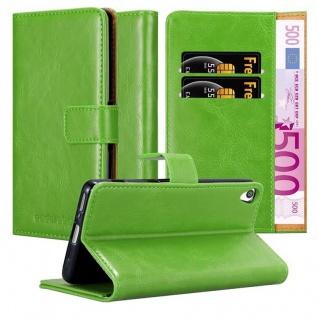 Cadorabo Hülle für Sony Xperia XA in GRAS GRÜN ? Handyhülle mit Magnetverschluss, Standfunktion und Kartenfach ? Case Cover Schutzhülle Etui Tasche Book Klapp Style