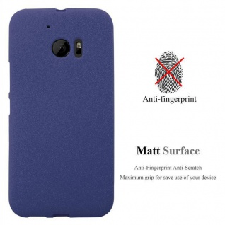 Cadorabo Hülle für HTC ONE M10 in FROST DUNKEL BLAU - Handyhülle aus flexiblem TPU Silikon - Silikonhülle Schutzhülle Ultra Slim Soft Back Cover Case Bumper - Vorschau 2