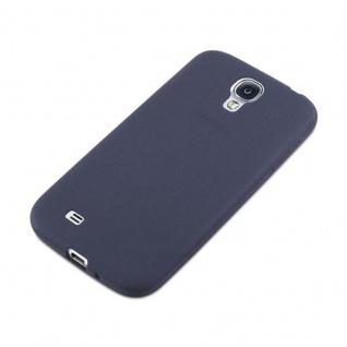 Cadorabo Hülle für Samsung Galaxy S4 in FROST DUNKEL BLAU - Handyhülle aus flexiblem TPU Silikon - Silikonhülle Schutzhülle Ultra Slim Soft Back Cover Case Bumper - Vorschau 3